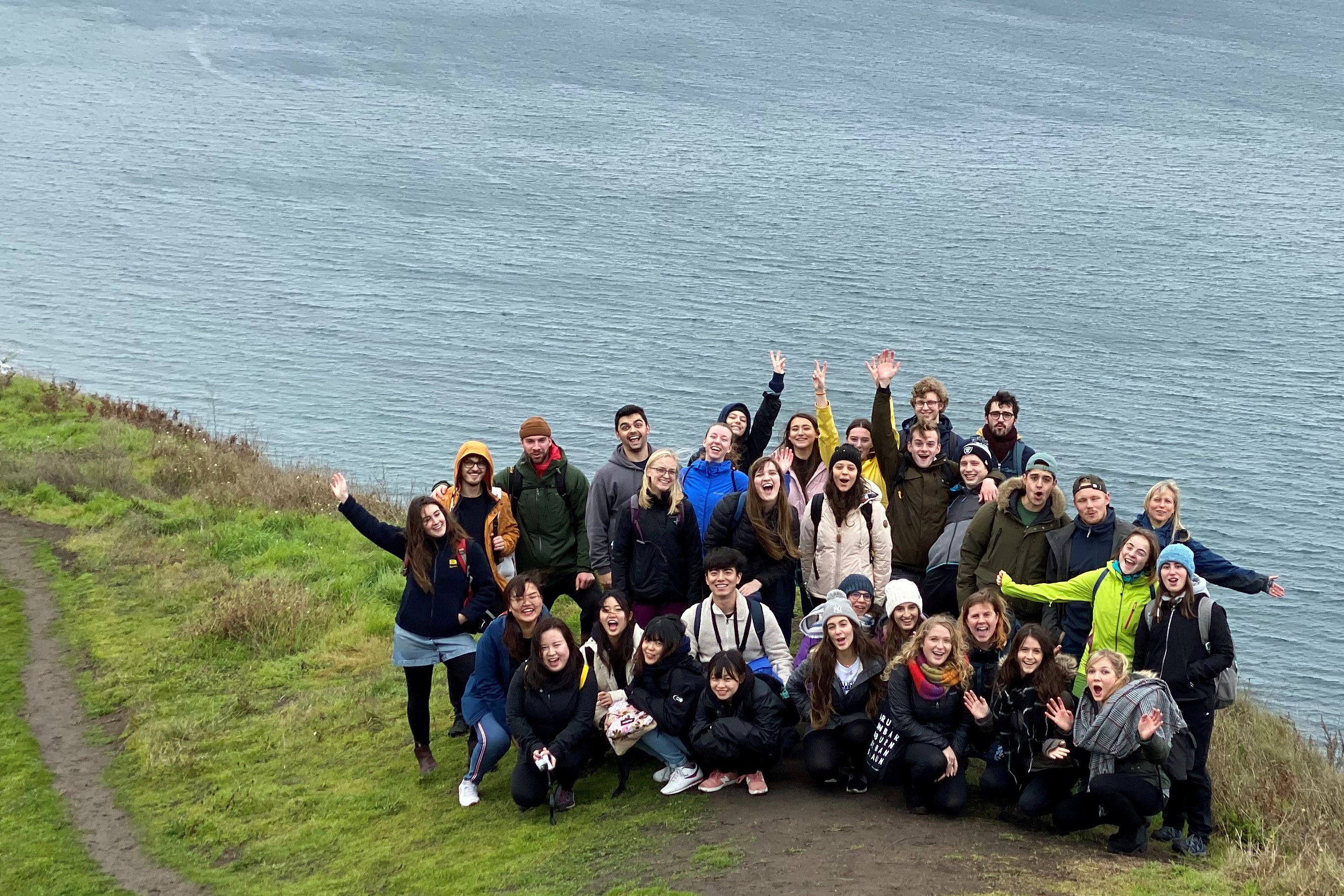group of students at Ebey's Landing